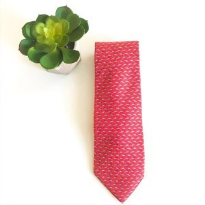 Brooks Brothers Maker XL Red Fish Novelty Tie